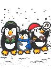 Click here for more information about Holiday Card - Caroling Penguins